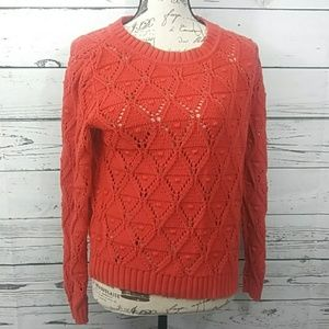 Tommy Hilfiger sz M red long sleeve top